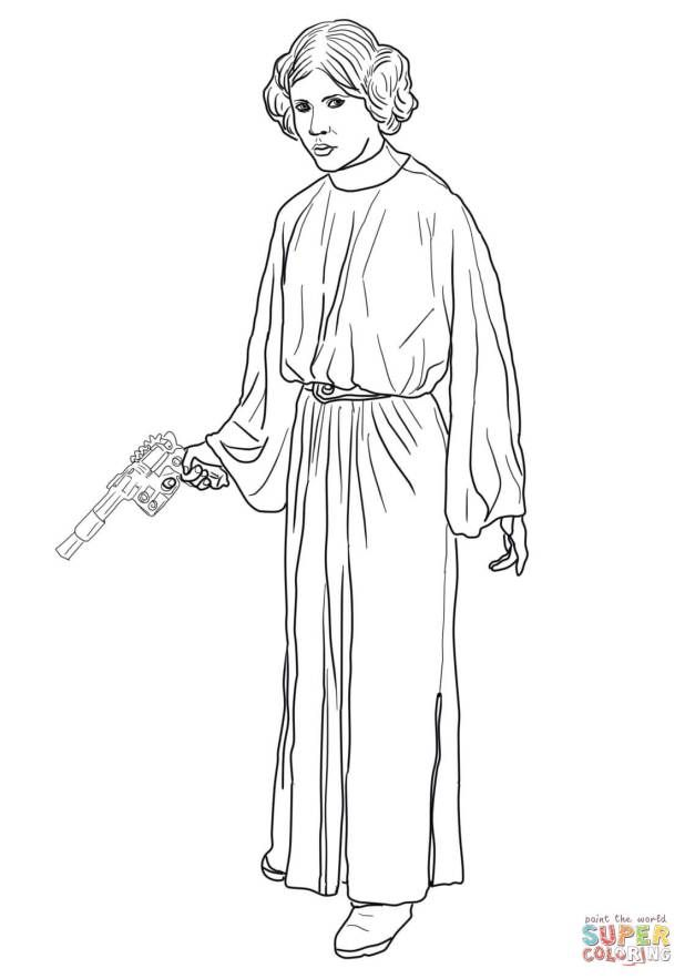 Princess Leia Coloring Page Star Wars Coloring Book