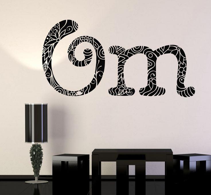 Vinyl Wall Decal Om Mantra Hinduism Yoga Meditation Center Stickers (1209ig)