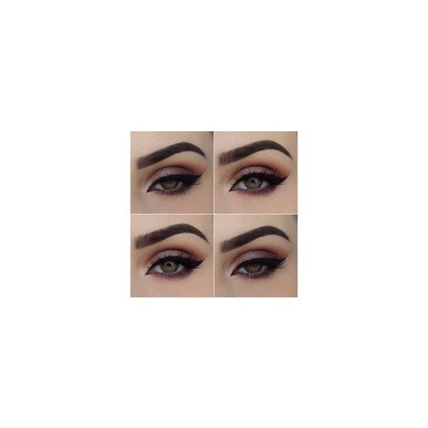 Sombra de ojos marrón ❤ liked on Polyvore featuring makeup