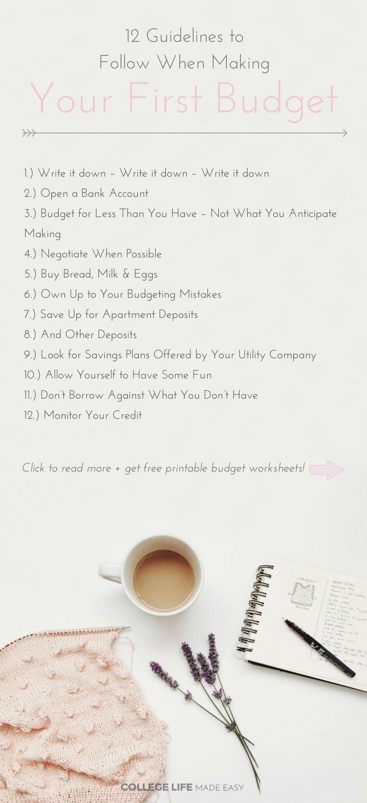 Budgeting worksheets for students uk
