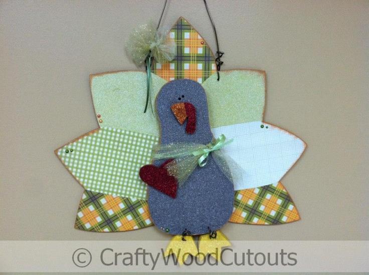Hanging Turkey Thanksgiving Wood Craft