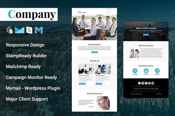 Company Responsive Email Template By Pennyblack