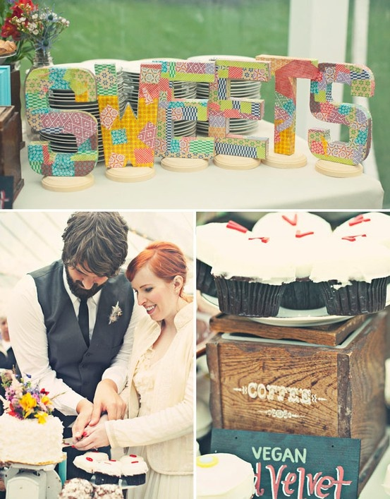 DIY Wedding Ideas: Decorative Wooden Letters
