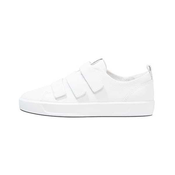 SOFT 8 LADIES Sneaker low white ZALANDO ($145) ❤ liked on Polyvore featuring shoes, sneakers, white trainers, white shoes, low shoes, white low sneakers and white sneakers