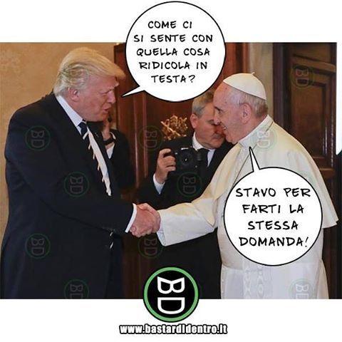 L'incontro è andato #perfettamente! #bastardidentro #trump www.bastardidentro.it