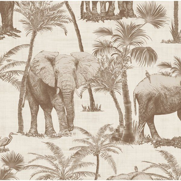 Arthouse Elephant Grove African Jungle Coffee 10m Wallpaper 610703