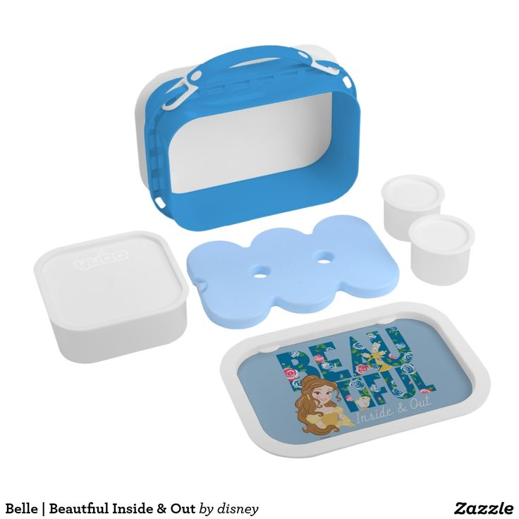 Belle | Beautfiul Inside & Out. Producto disponible en tienda Zazzle. Product available in Zazzle store. Regalos, Gifts. #lonchera #LunchBox