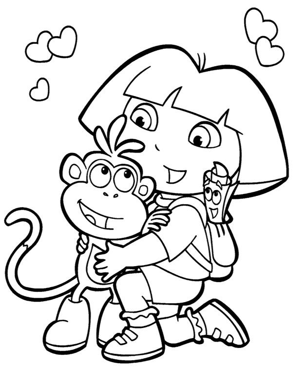 Backgrounds Coloring Dora And Boots Coloring Pages New At Download Dora And Boots Colouri Birthday Coloring Pages Kids Printable Coloring Pages Dora Coloring