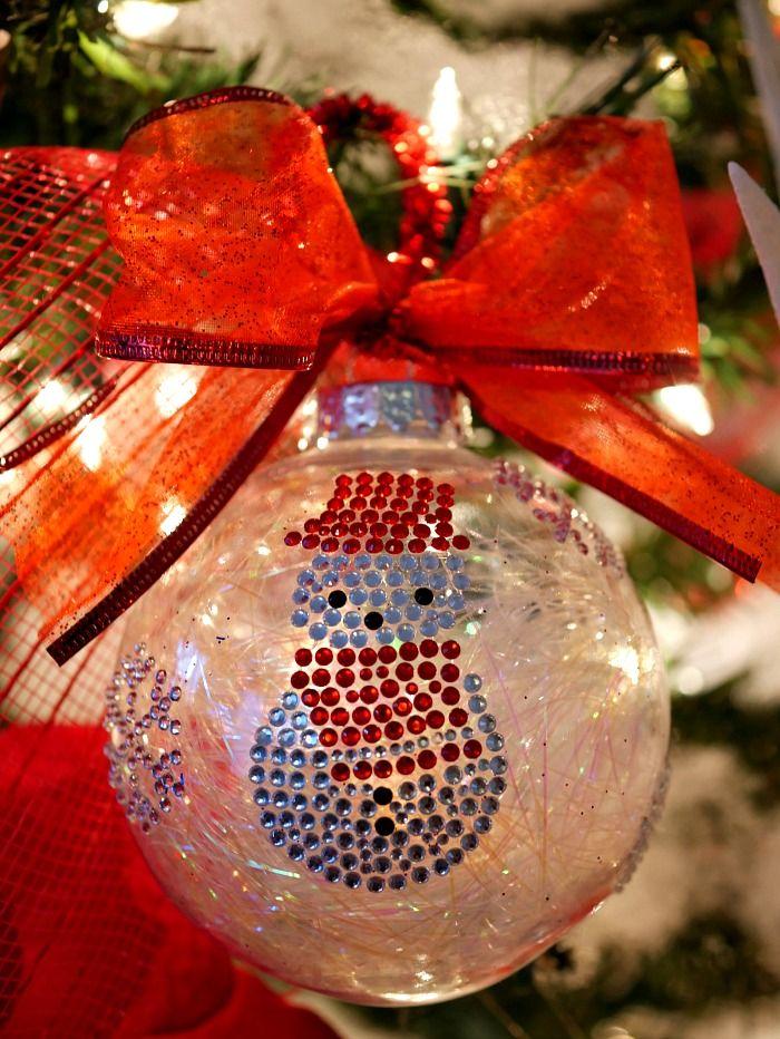 Simple Sticker Ornaments On Tree