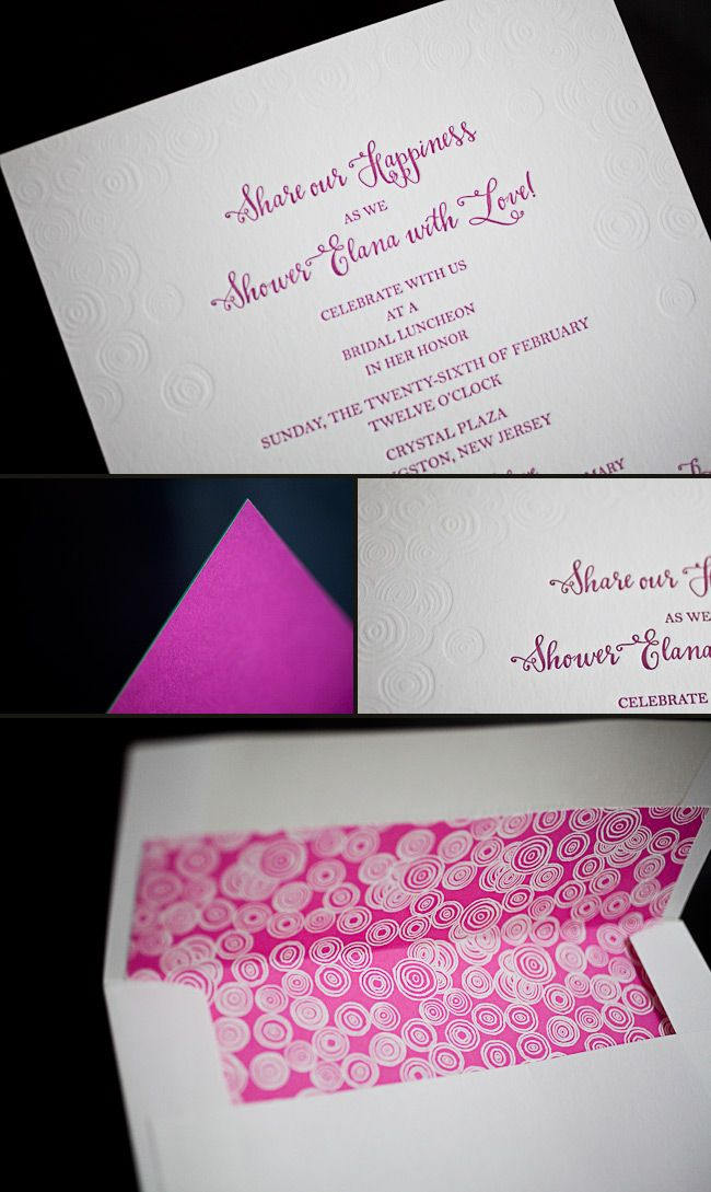 bridal shower invitations registry etiquette%0A scustomrasberryinkless WooHoo   A shout out for CSP from    Bridal Shower  InvitationsWedding