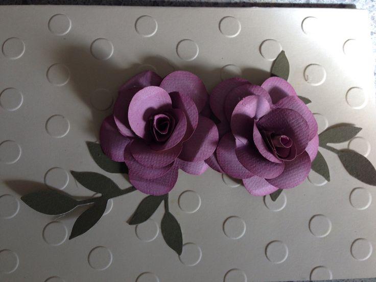 Rose Handmade Card Andrea Bruce