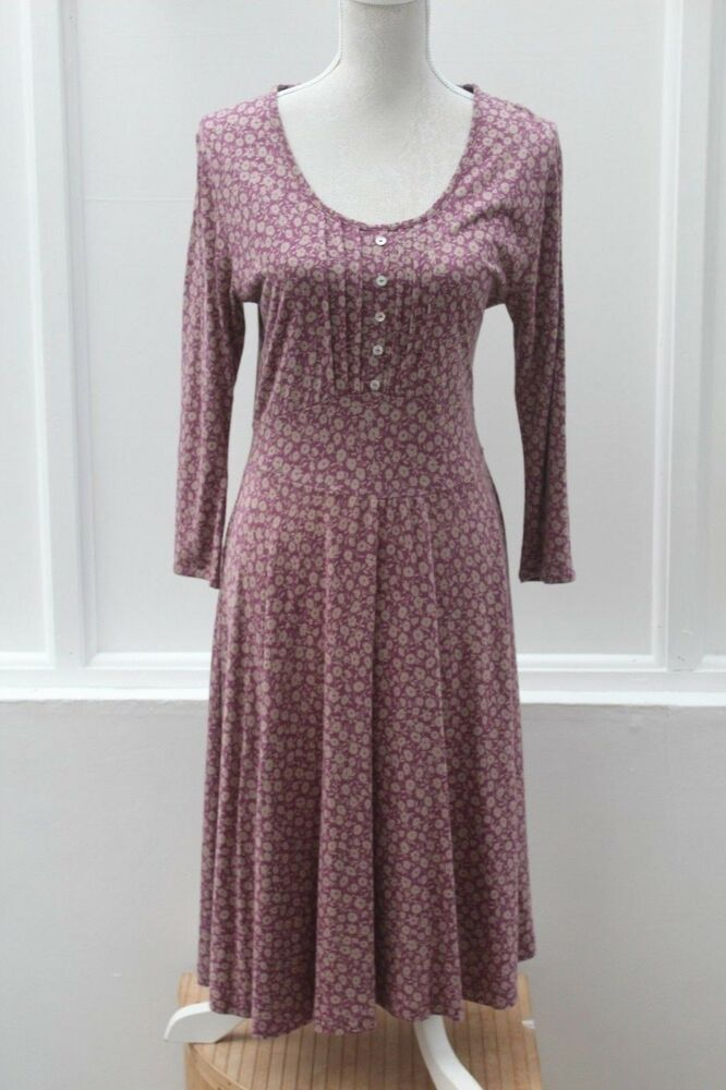 dcd122e2e10dc BRAINTREE Dress Bamboo / Organic Cotton Pink and Brown Size L (475)  #Braintree