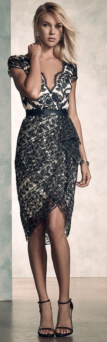 Marchessa Notte Lace Cocktail Dress