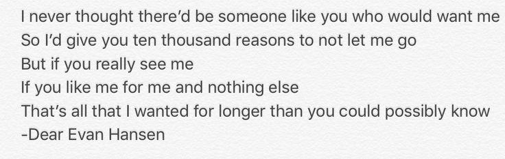 """""""Only Us"""" -Dear Evan Hansen"""
