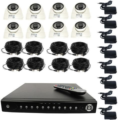 High Definition 8 Channel Surveillance System with 2TB or 4TB Hard Drive