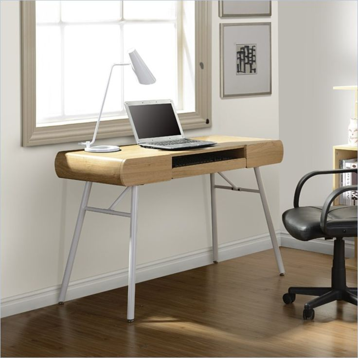 techni mobili computer desk in pine