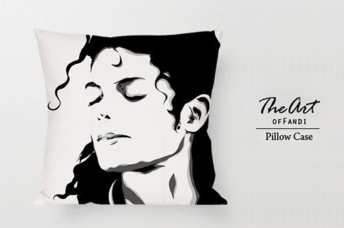 "Michael Jackson - Custom Square 18""x18"" One Side Pillow Case"