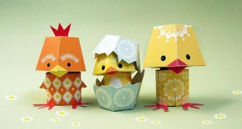 Cute Paper Crafts. #PutABirdOnItCrafts Ideas, Class Projects, Easter Crafts, Paper Birds, Paper Parties, Paper Crafts, Paper Toys, Animal, Easter Ideas