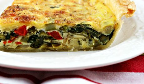 Yummy apps. A quiche by Julia Child