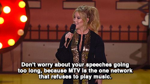 Amy Schumer started off the night by zinging MTV. | 17 Things You Missed At The MTV Movie Awards