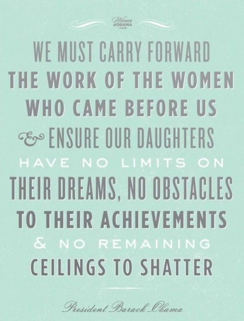 great president obama quote on the power of women.