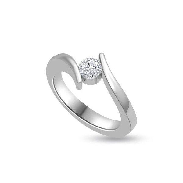 ANELLO DI FIDANZAMENTO SOLITARIO CON DIAMANTE 18CT ORO BIANCO    Solitario con diamante taglio brillante montato a battita. L`anello e` disponibile in 18ct oro bianco, 18ct oro giallo e in platino. Il peso dei carati del diamante puo` variare da 0.20ct a 0.60ct ed il colore da F ad I e la purezza da VS1 ad SI1. L`anello e` accompagnato dal certificato del diamante. Perfetto per fidanzamento, matrimonio o anniversario e come regalo nel giorno di San Valentino.