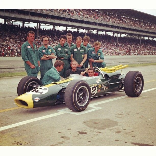 The 1965 #Indy500 when #JimClark #ColinChapman and #TeamLotus invaded Indianapolis with the new mid-engined Lotus 38 and dominated their way to victory. Clark led all but 10 laps and skipped the Monaco GP that year to compete at Indy instead. by autodrome