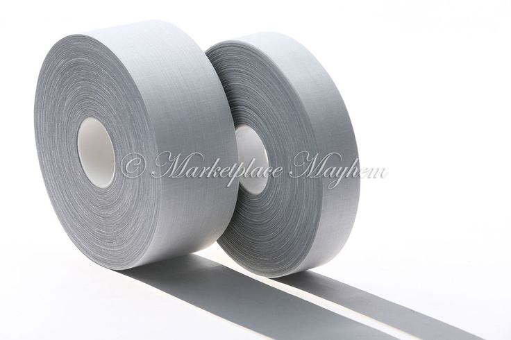 """HI VISIBILITY REFLECTIVE SEW ON TAPE 25/50mm/1""""/2"""" SILVER 1/2/5/10/50/100M METRE"""