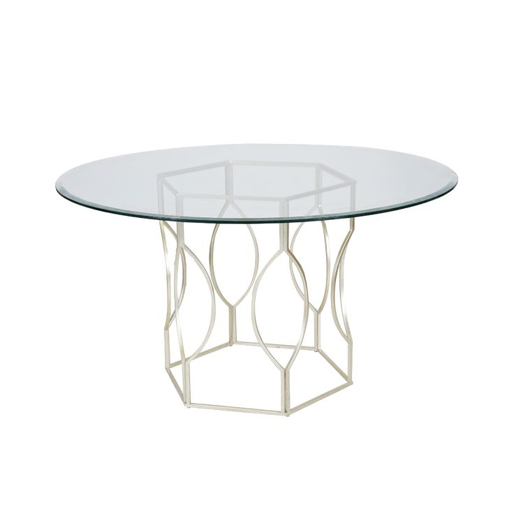 Worlds Away Abigail Dining Table Silver 20 Trade Price