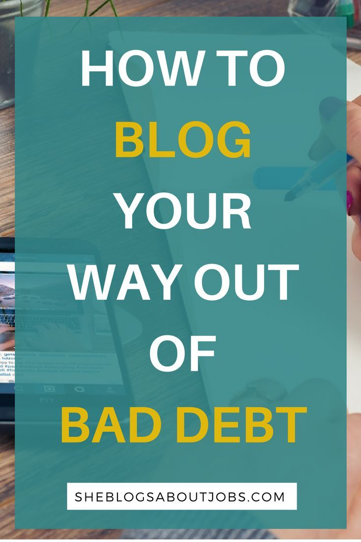 This post is about how to get out of debt by starting a blog. It also highliight three bloggers who have successfully gotten out of debt by blogging. Click through to read how to get out of bedt by starting a blog