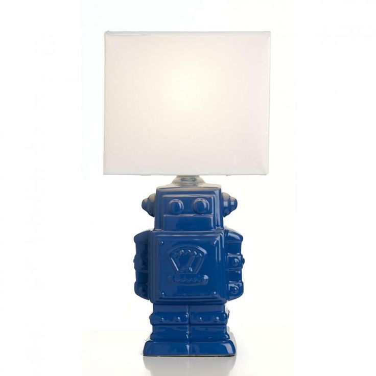 Robot Table Lamp, Blue