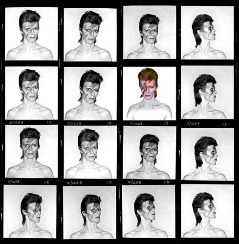 David Bowie, Aladdin Sane (hoja de contactos) por Brian Duffy en subastas artnet