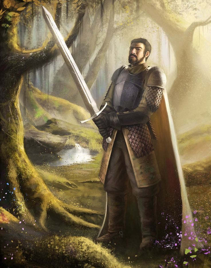 "Ser Arthur Dayne, Sword of the Morning. ""Our knees do not bend easily."""