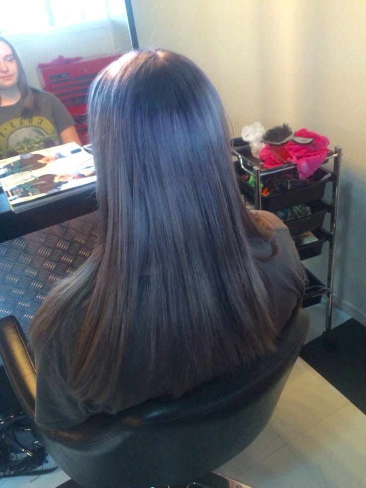Granny grey. Sliver hair colour. Chrome hair colour