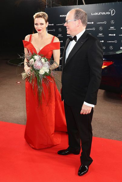 Princess of Monaco Photos - Prince Albert II of Monaco.and his Charlene,Princess of Monaco attend the 2017 Laureus World Sports Awards at the Salle des Etoiles,Sporting Monte Carlo on February 14, 2017 in Monaco, Monaco. - Red Carpet - 2017 Laureus World Sports Awards - Monaco