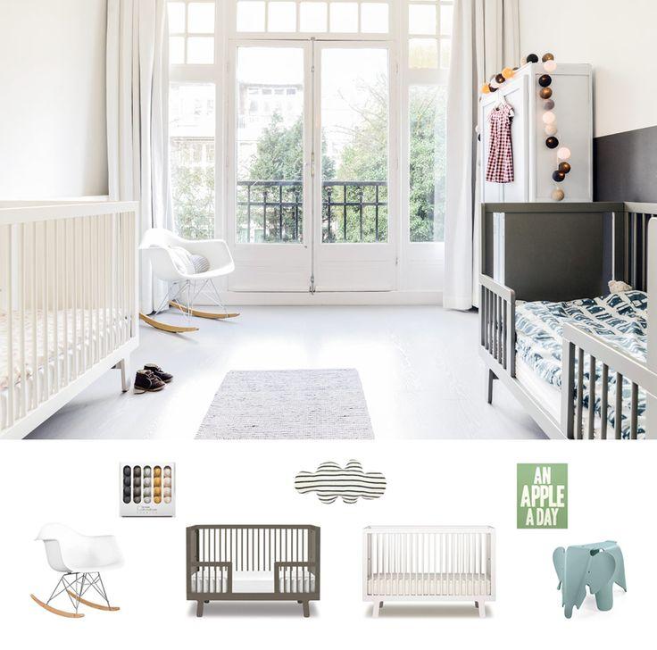 kids rooms, kids bedroom, baby room, baby bedroom, baby crib, cribs, dormitorio infantil, habitación infantil, dormitorio compartido, habitación compartida, estilo escandinavo, cunas, cunas para bebés, bebés, baby, kids