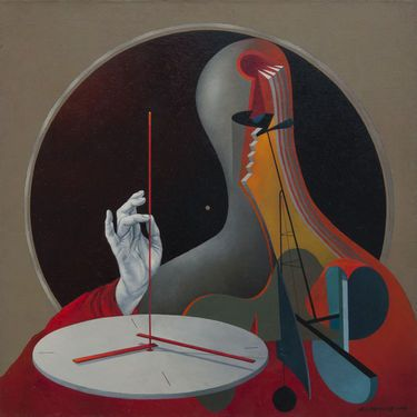 "Saatchi Art Artist Alex Berdysheff - painting, ""Time Keeper"""