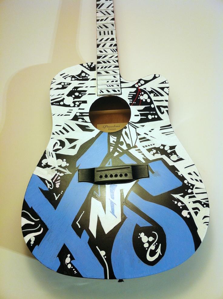 graffiti na zlecenie , mural na zlecenie , street art , kraków , gitara instrumenty muzyczne