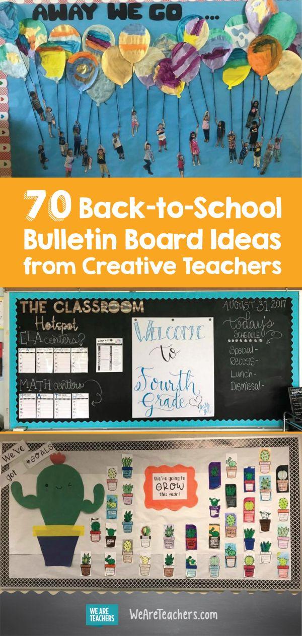 70 BacktoSchool Bulletin Board Ideas from Creative