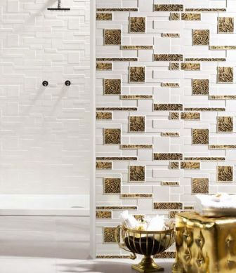 3D tiles Realonda Mix Stone Blanco mini