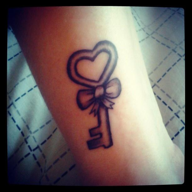 #key #heart #wrist #bow #tattoo Key Heart Wrist Bow Tattoo