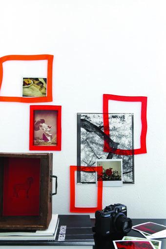 adhesive gel frame by Monica Graffeo