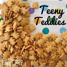 This one recipe makes the equivalent of 27 little packets of tiny teddies. That's right. 270 teeny teddies! You will need a bit of time on your hands to cut them all in one sitting.