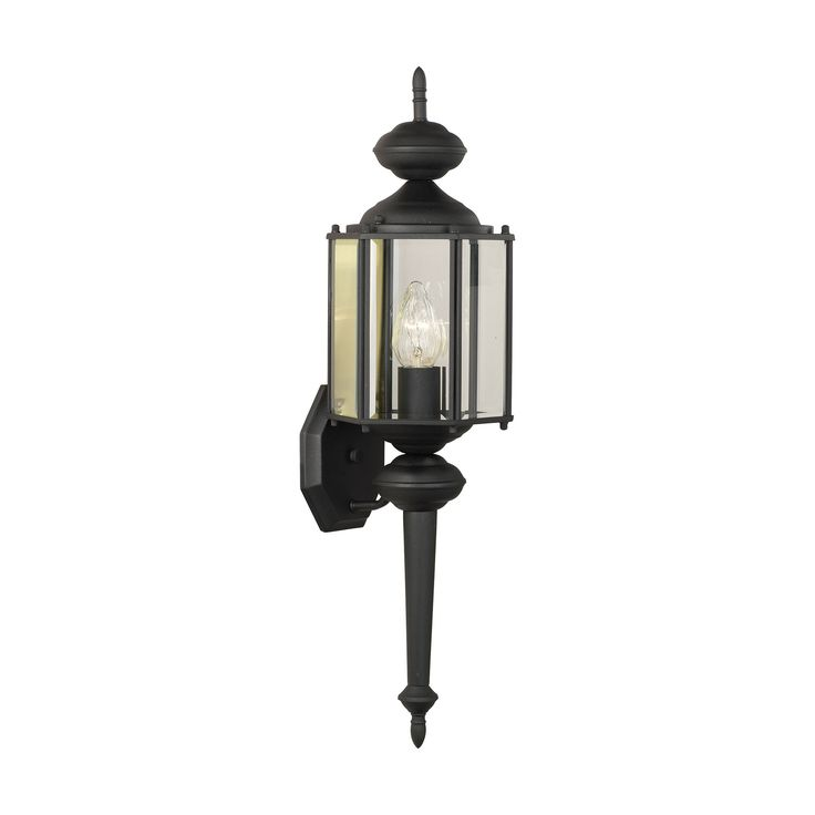 Thomas Lighting SL92437 Brentwood Collection Black Finish Traditional Wall Sconce