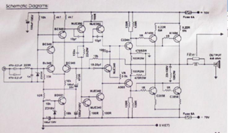 2 X 250 Watt Power Amplifier Blazer St Plus