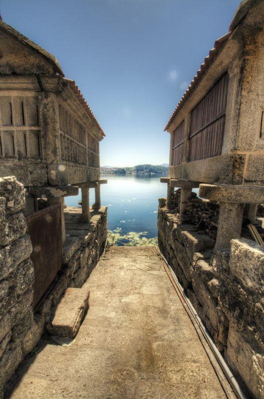 Horreos. Combarro. Galicia. Spain   España