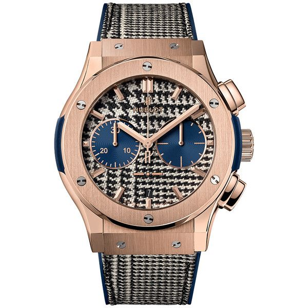 Hublot Classic Fusion Chronograph 45mm 521.OX.2704.NR.ITI17 Watch (1.569.310 RUB) ❤ liked on Polyvore featuring men's fashion, men's jewelry, men's watches, mens chronograph watches, mens gold watches, mens gold chronograph watches and hublot mens watches