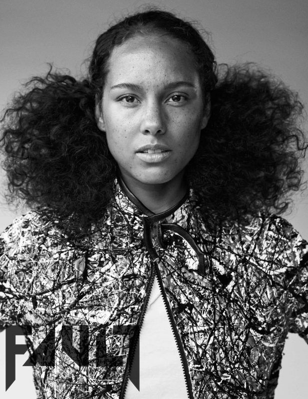 Alicia Keys Exclusive Covershoot and interview for FAULT Issue 23 #nomakeup…
