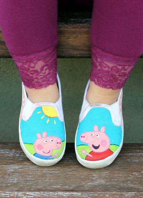 Ed's Peppa Pig shoes: