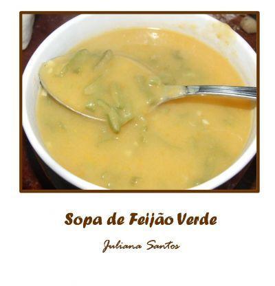 Receitas - Sopa de Feijão Verde - Petiscos.com